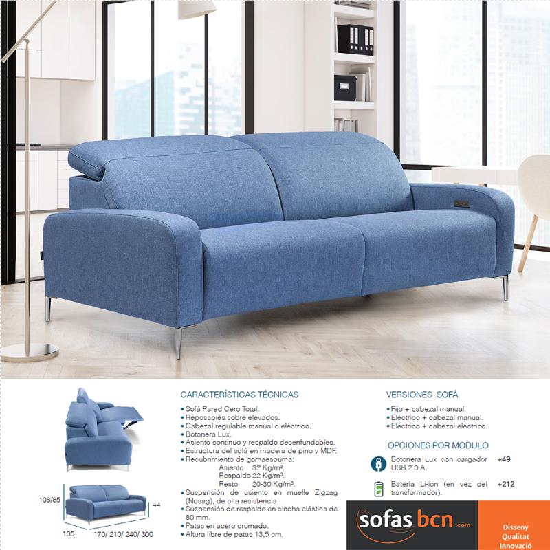 Sof relax dise o moderno pata alta con motor electrico for Sofas relax con motor